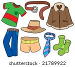 man clothes collection   vector ... | Shutterstock .eps vector #21789922