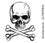 skull and crossbones | Shutterstock .eps vector #217899841