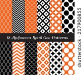 halloween orange  black and... | Shutterstock .eps vector #217900855