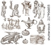 halloween  monsters  magic and... | Shutterstock . vector #217906855