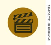film maker clapper board  icon. ...