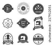 sewing equipment atelier tailor ... | Shutterstock .eps vector #217912051
