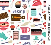 a colorful bakery seamless... | Shutterstock .eps vector #217919899