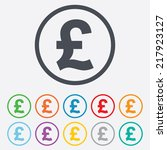 pound sign icon. gbp currency... | Shutterstock . vector #217923127