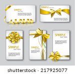 templates for business cards or ... | Shutterstock .eps vector #217925077