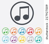 music note sign icon. musical...   Shutterstock . vector #217927009