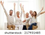 family  happiness  generation... | Shutterstock . vector #217931485