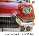 red retro car isolated on white | Shutterstock . vector #21795163