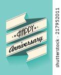 happy anniversary banner... | Shutterstock .eps vector #217952011