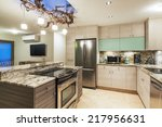 modern contemporary kitchen... | Shutterstock . vector #217956631