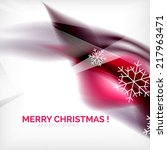 purple color christmas blurred... | Shutterstock . vector #217963471