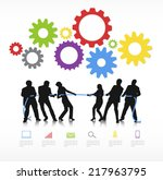concept of a business conflict. | Shutterstock .eps vector #217963795