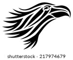 tribal vector image of an eagle'... | Shutterstock .eps vector #217974679