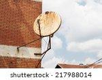 Rusty Satellite Dish On The...
