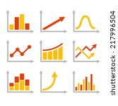 color graph chart icons set.... | Shutterstock .eps vector #217996504