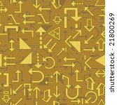 seamless vector wallpaper with... | Shutterstock .eps vector #21800269