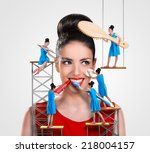 Small Workers Working On A...