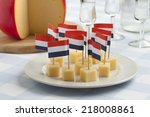 Edam Cheese Snacks With Flags...
