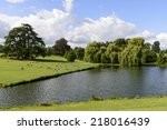 Trees And Lake In Leeds Castle...