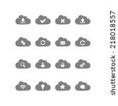 cloud computing icons   Shutterstock .eps vector #218018557