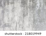 Grungy White Concrete Wall...