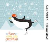 penguin skates | Shutterstock .eps vector #218024599
