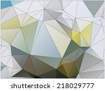 abstract geometric background... | Shutterstock .eps vector #218029777
