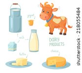 dairy products | Shutterstock .eps vector #218055484