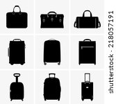 travel bags | Shutterstock .eps vector #218057191