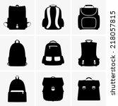 school bags | Shutterstock .eps vector #218057815