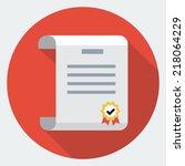 vector diploma icon | Shutterstock .eps vector #218064229