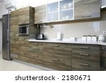 modern gray green wood kitchen... | Shutterstock . vector #2180671