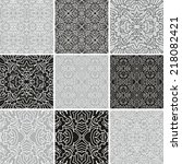 set of decorative laced... | Shutterstock .eps vector #218082421