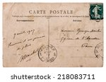 Antique French Postcard  With...