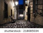 Old Narrow Street In Prague ...