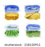 harvest. watercolor. vector... | Shutterstock .eps vector #218120911