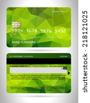 templates of credit cards... | Shutterstock .eps vector #218121025