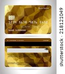 templates of credit cards... | Shutterstock .eps vector #218121049