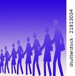 line of people | Shutterstock . vector #21813034