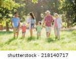 multi generation family... | Shutterstock . vector #218140717