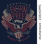 Vintage Americana Eagle Graphic