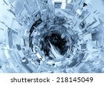 3d futuristic background  | Shutterstock . vector #218145049