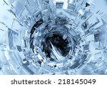 3d futuristic background    Shutterstock . vector #218145049