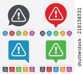 attention sign icon.... | Shutterstock .eps vector #218158531