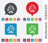 fire flame sign icon. heat... | Shutterstock .eps vector #218162101