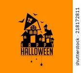 vector spooky and horror... | Shutterstock .eps vector #218172811