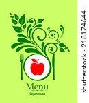 vegetarian menu. vector... | Shutterstock .eps vector #218174644
