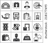 logistics shipping icons set ... | Shutterstock .eps vector #218177695
