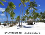 beach on the tropical island.... | Shutterstock . vector #218186671