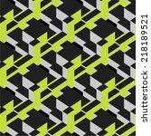 modern isometric seamless... | Shutterstock .eps vector #218189521